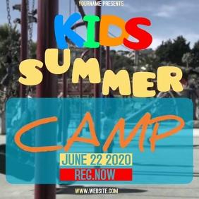 KIDS SUMMER CAMP AD TEMPLATE Cuadrado (1:1)