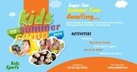 Kids Summer Camp ads Facebook 广告 template