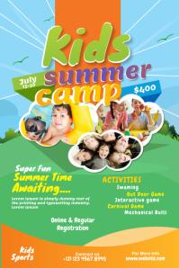 Kids Summer Camp advert Banner 4' × 6' template