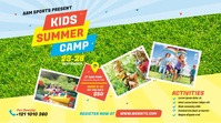 Kids Summer Camp Post sa Twitter template