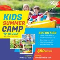 Kids Summer Camp Instagram Post template