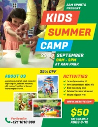 Kids Summer Camp Pamflet (Letter AS) template