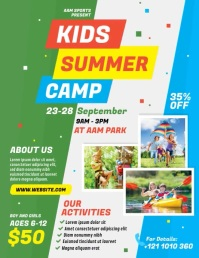 Kids Summer Camp Volante (Carta US) template