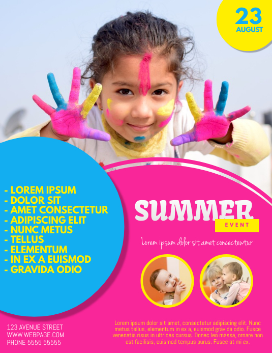 Kids Summer Camp Event Flyer Template