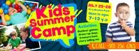 Kids Summer Camp Facebook Cover template