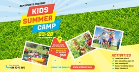 Kids Summer Camp Facebook Shared Image template