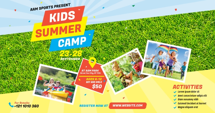 Kids Summer Camp Facebook Shared Image