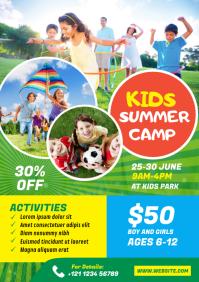 Kids Summer Camp Flyer A4 template