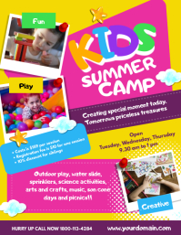 Kids Summer Camp Flyer Poster Template