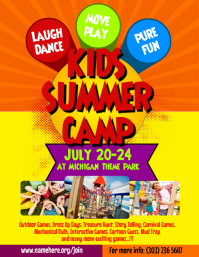 Customizable Design Templates For Summer Camp Flyer PosterMyWall - Summer camp brochure template