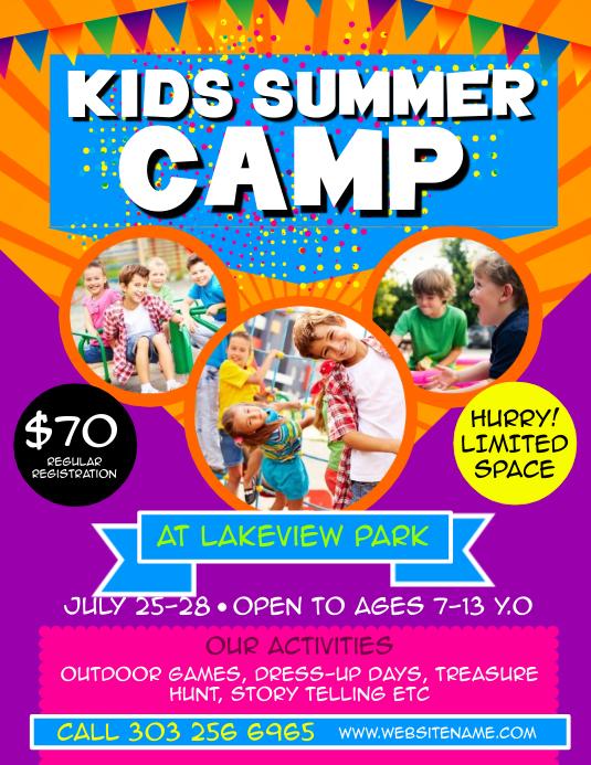 Kids Summer Camp Flyer Template Postermywall