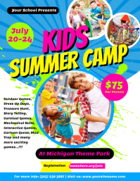 Kids Summer Camp Flyer Template