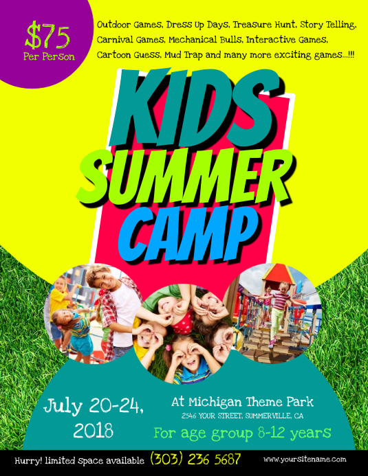 Kids Summer Camp Flyer Template | PosterMyWall