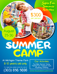 Customizable Design Templates For Summer Camp PosterMyWall - Summer camp brochure template