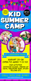 Kids Summer Camp Flyer Letter Setengah Halaman template