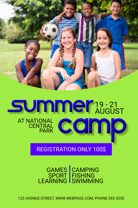 Customizable Design Templates For Summer Camp | Postermywall