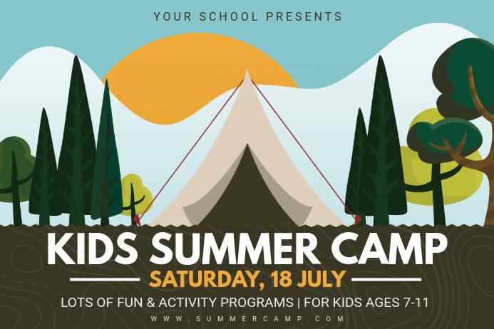 Kids Summer Camp Poster Theme