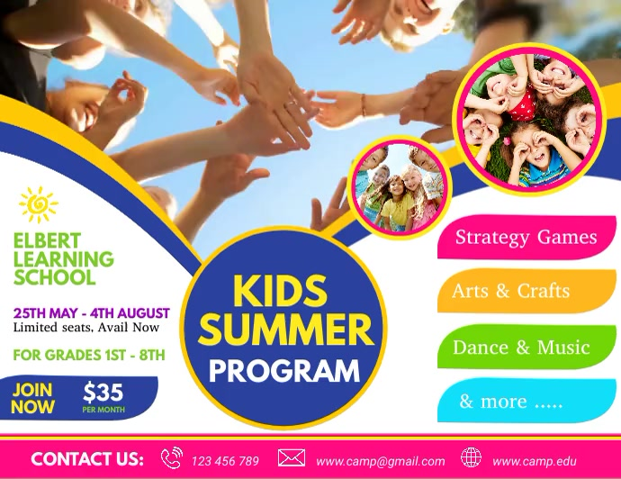 kids summer camp video, summer camp, holidays