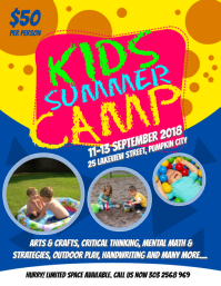 Kids Summer Camps Flyer