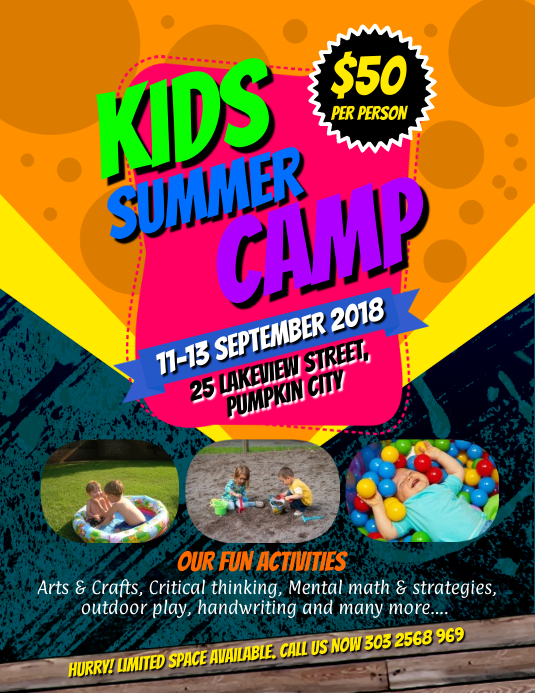 Kids Summer Camps Flyer