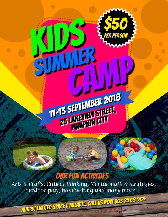 Kids Summer Camps Flyer template