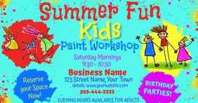 Kids Summer Event Facebook Advertising Size Facebook-annonce template