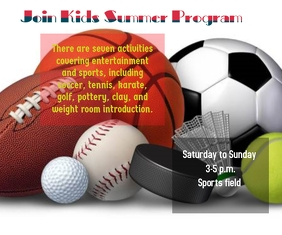 Kids Summer Program Large Rectangle template