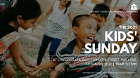 kids sunday church flyer Display digitale (16:9) template