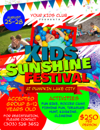 Kids Sunshine Festival Flyer