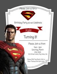 Kids Superman Birthday Invitation Template
