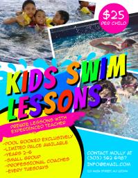 Kids Swim Lessons Flyer