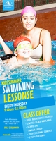 Kids Swimming Lessons Rollbanner 2 stopy × 5 stóp template