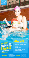 Kids Swimming Lessons Rollbanner 3 stopy × 6 stóp template