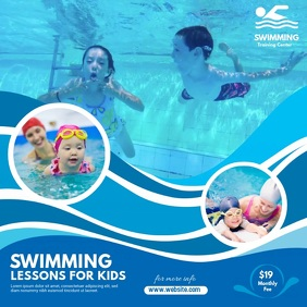 Kids Swimming Lessons Instagram Post template