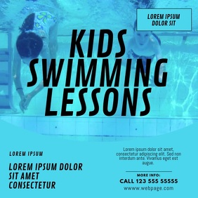 Kids Swimming Lessons Video Ad template
