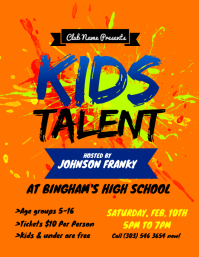Kids Talent Flyer