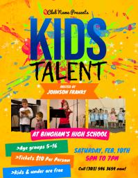 Kids Talent Flyer