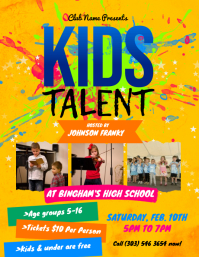 Kids Talent Flyer template
