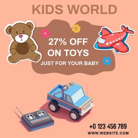 KIDS TOYS AD SOCIAL MEDIA TEMPLATE Square (1:1)