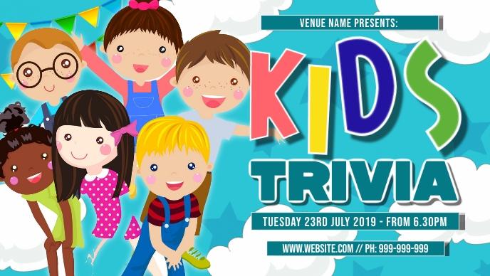 Kids Trivia Facebook Event Cover Facebook-covervideo (16:9) template