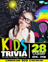 Kids Trivia Poster Flyer (US Letter) template