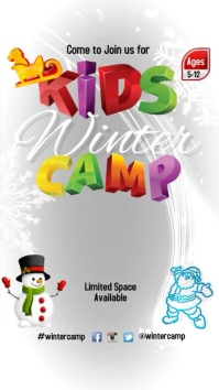 Kids Winter Camp Instagram Story template