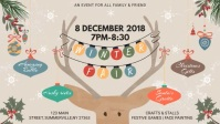 Kids Winter Event Invitation Facebook Cover Video