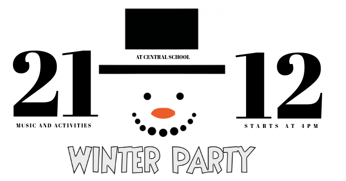 Kids winter Party Fais facebook photo template