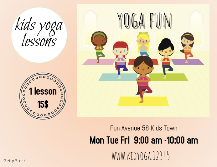 Kids Yoga Template  Postermywall