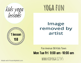 kids yoga template