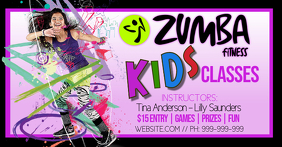 Kids Zumba Class Facebook Event Cover template