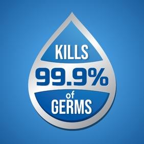 Kills 99.9% of Germs