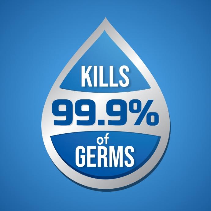 Kills 99.9% of Germs Logotipo template