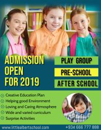 Kindergarten Admission Open Day Flyer